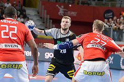 Philipp Weber of Germany during handball match between National teams of Germany and Denmark on Day 4 in Main Round of Men's EHF EURO 2018, on January 21, 2018 in Arena Varazdin, Varazdin, Croatia. Photo by Mario Horvat / Sportida