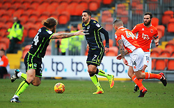 Liam Sercombe of Bristol Rovers takes on Jay Spearing of Blackpool - Mandatory by-line: Matt McNulty/JMP - 13/01/2018 - FOOTBALL - Bloomfield Road - Blackpool, England - Blackpool v Bristol Rovers - Sky Bet League One