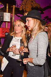 Left to right, Charlotte Bobroff and Caroline Morgan at the Seren London Launch Party held at Baar And Bass, 336 Kings Road, London England. 26 April 2017.