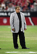 Oakland Raiders general manager Reggie McKenzie looks on during pregame warmups before the 2016 NFL preseason football game against the Arizona Cardinals on Friday, Aug. 12, 2016 in Glendale, Ariz. The Raiders won the game 31-10. (©Paul Anthony Spinelli)