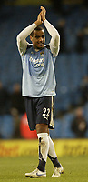 Photo: Aidan Ellis.<br /> Manchester City v Tottenham Hotspur. The Barclays Premiership. 17/12/2006.<br /> Spurs Tommy Huddlestone celebrates victory at the end