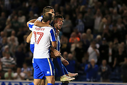 Goal, Tomer Hemed of Brighton & Hove Albion scores from the pemalty spot, Brighton & Hove Albion 3-0 Rotherham United - Mandatory by-line: Jason Brown/JMP - 16/08/2016 - FOOTBALL - Amex Stadium - Brighton, England - Brighton & Hove Albion v Rotherham United - Sky Bet Championship