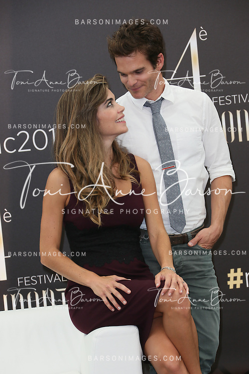 """MONTE-CARLO, MONACO - JUNE 09:  Amelia Heinle and Greg Rikaart attend """"The Young and The Restless"""" Photocall on June 9, 2014 in Monte-Carlo, Monaco.  (Photo by Tony Barson/FilmMagic)"""