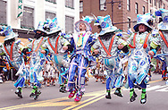 PHILADELPHIA - JANUARY 1:   Members of the Ferko String Band perform as they march up Broad Street during the 105th Annual Mummers Parade January 1, 2006 in Philadelphia. Thousands lined the three mile parade route to watch Philadelphia's colorful New Years Day tradition, which dates back to 1900. (Photo by William Thomas Cain/Getty Images)