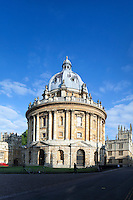 Radcliffe Camera, in Radcliffe Square, Oxford, Oxfordshire UK. Built between 1737 and 1748 by James Gibbs in Baroque style.