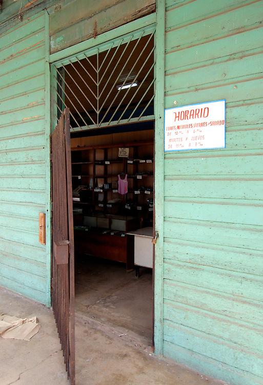 Shop in Santa Cruz del Norte, Mayabeque, Cuba.