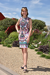 Fiona Bruce at the RHS Chelsea Flower Show Press Day, Royal Hospital Chelsea, London England. 22 May 2017.<br /> Photo by Dominic O'Neill/SilverHub 0203 174 1069 sales@silverhubmedia.com