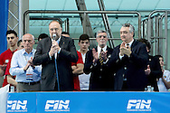 (L to R) Roberto Cosolini Sindaco Trieste; Paolo Barelli Presidente FIN<br /> FINA Men's Water Polo Olympic Games Qualifications Tournament 2016<br /> Opening<br /> Trieste, Italy - Swimming pool Bruno Bianchi<br /> Day1 03-04-2016<br /> Photo G.Scala/Insidefoto/Deepbluemedia