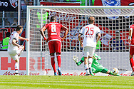 Robert Lewandowski of Bayern Munich scores a penalty during the Bundesliga match at Audi Sportpark, Ingolstadt<br /> Picture by EXPA Pictures/Focus Images Ltd 07814482222<br /> 07/05/2016<br /> ***UK &amp; IRELAND ONLY***<br /> EXPA-EIB-160507-0064.jpg