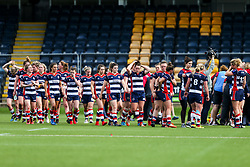 Bristol Ladies look dejected after losing the play off final having finished the regular season top of the league - Rogan Thomson/JMP - 23/04/2017 - RUGBY UNION - Sixways Stadium - Worcester, England - Bristol Ladies Rugby v Aylesford Bulls - Women's Premiership Final.