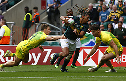 May 26, 2019 - Twickenham, England, United Kingdom - Justin Geduld of South Africa.during The HSBC World Rugby Sevens Series 2019 London 7s Cup Quarter Final Match 29 between South Africa and Australia at Twickenham on 26 May 2019. (Credit Image: © Action Foto Sport/NurPhoto via ZUMA Press)