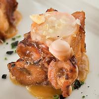 Pulpo marinado en miso.<br /> Dani Garcia.<br /> Gastrobar Lamoraga,<br /> Puerto Banus, Malaga.