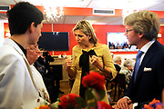 Koningin M&aacute;xima woonde het 7500ste door de Stichting Muziek in Huis georganiseerde concert bij, in woonzorgcentrum De Bolder.<br /> <br /> Queen M&aacute;xima attended the 7500ste organized by the Music Foundation House concert in nursing home De Bolder.<br /> <br /> op de foto / On the photo:  Koningin Maxima bij het concert, gegeven door pianoduo Dani&euml;l Wayenberg (84) en Martin Oei (18).<br /> <br /> Queen Maxima at the concert given by piano duo Daniel Wayenberg (84) and Martin Oei (18).