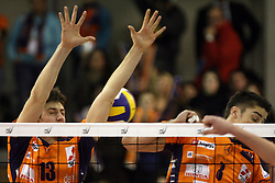 Matevz Kamnik of ACH Volley, Slovenia at Indesit European Champions League match between ACH Volley from Bled, Slovenia and Dinamo Moscow, Russia at the Hala Tivoli on January 23, 2008 in Ljubljana, Slovenia. ACH Volley : Dinamo Moscow 0:3. (Photo by Vid Ponikvar / Sportida)