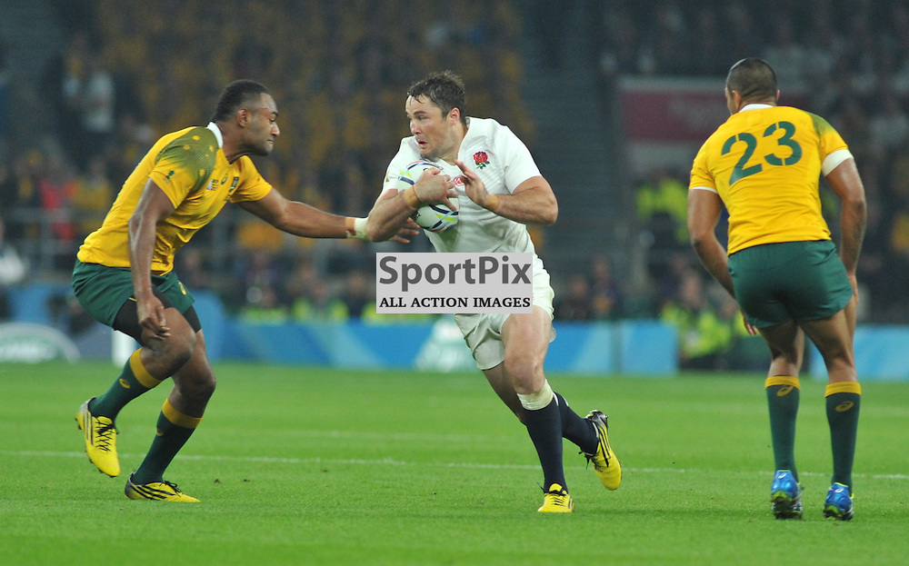 Brad Barritt of England during the IRB RWC 2015 Pool A match between England and Australia at Twickenham Stadium on Saturday 3 October 2015, London, England. (c) Ian Nancollas | SportPix.org.uk
