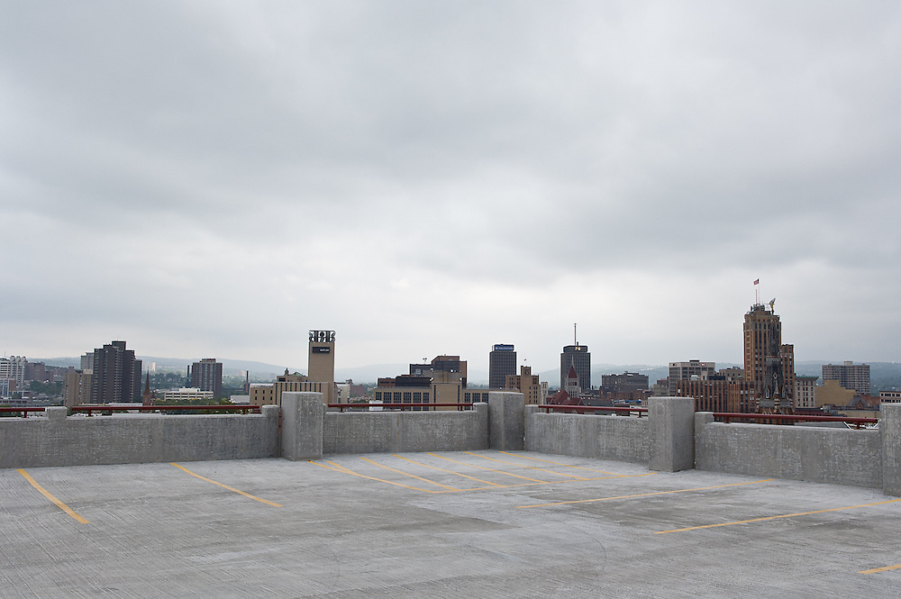 Oswego parking garage, and a return to St. Joe's and Harrison Street garages