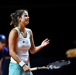 20.04.2016, Porsche Arena, Stuttgart, GER, WTA Tour, Porsche Tennis Grand Prix Stuttgart, im Bild Julia Goerges GOERGES (GER) enttaeuscht // during Porsche Tennis Grand Prix of the WTA Tour at the Porsche Arena in Stuttgart, Germany on 2016/04/20. EXPA Pictures © 2016, PhotoCredit: EXPA/ Eibner-Pressefoto/ Weber<br /> <br /> *****ATTENTION - OUT of GER*****