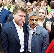 Vigil for the people murdered in the Pulse Club shooting in Orlando Florida by Omar Mateen<br /> in Old Compton Street, London, Great Britain <br /> 13th June 2016 <br /> <br /> with Sadiq Khan <br /> Mayor of London <br /> <br /> <br /> <br /> Matthew Barzun  - United States Ambassador to the United Kingdom<br /> Ambassador of the United States <br /> <br /> Photograph by Elliott Franks <br /> Image licensed to Elliott Franks Photography Services