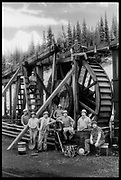 Waterwheel Crew in Historic Barkerville, BC, Canada