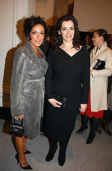 Left to right, NANCY DELL'OLIO and NIGELLA LAWSON at a reception to celebrate the opening of 'USA Today' - an exhibition of work from The Saatchi Gallery held at The Royal Academy of Arts, Burlington Gardens, London on 5th September 2006.<br />
