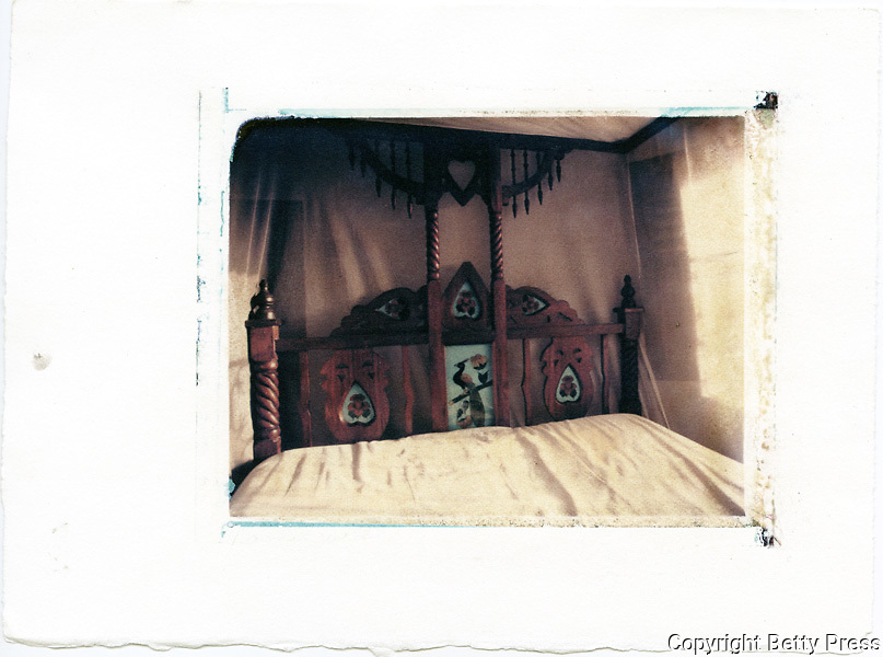 Typical Lamu wooden bed with embedded glass painting.<br /> Image size 4x5, Matted 12x10  Edition of 25 Archival Pigment Print