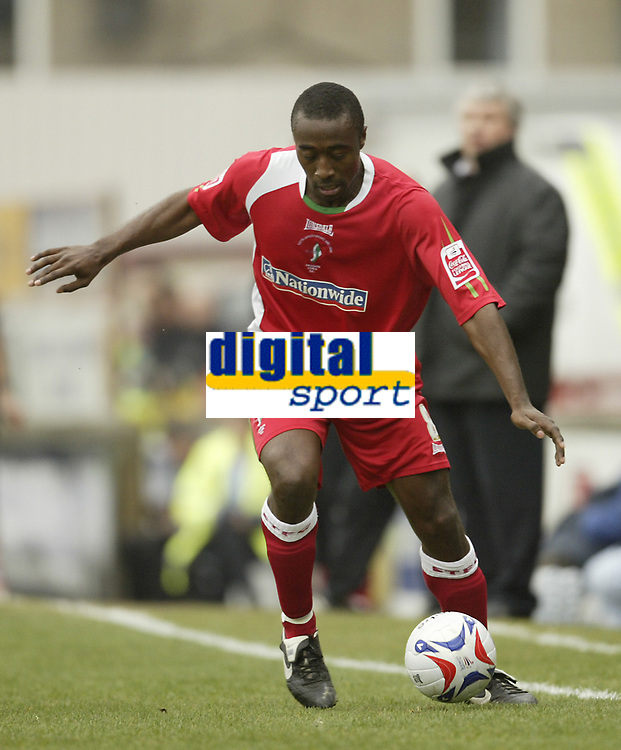 Photo: Aidan Ellis.<br /> Grimsby Town v Swindon Town. Coca Cola League 2. 17/03/2007.<br /> Swindon's Ricky Shakes