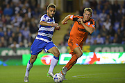 Reading's Carlos Orlando Sa heads towards goal during the Sky Bet Championship match between Reading and Ipswich Town at the Madejski Stadium, Reading, England on 11 September 2015. Photo by Mark Davies.