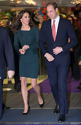 LONDON-UK - 09- DEC-2015: The Duke and Duchess of Cambridge, Prince William and Kate attend ICAP's annual Charity Day. The fundraising day is held at the ICAP offices in the City of London.<br /> Photograph by Ian Jones