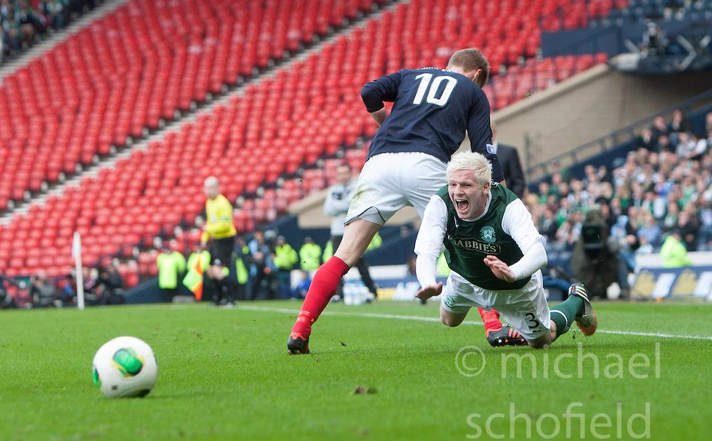 Falkirk's Jay Fulton and Hibernian's Ryan McGivern..Hibernian 4 v 3 Falkirk, William Hill Scottish Cup Semi Final, Hampden Park..©Michael Schofield..