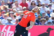 Ben Stokes of England bowling during the 3rd Vitality International T20 match between England and India at the Brightside County Ground, Bristol, United Kingdom on 8 July 2018. Picture by Graham Hunt.