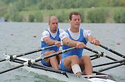 Vienna AUSTRIA. ITA M2X. Bow. Rossano GALTAROSSA  and  Alessio SARTORI. 2000 FISA World Cup. 2nd Round. Vienna Neue Donau Rowing Course  [Mandatory Credit. Peter Spurrier/Intersport Images]