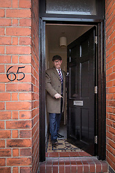 © Licensed to London News Pictures . 03/02/2017. Stoke-on-Trent, UK . UKIP leader PAUL NUTTALL leaves his Stoke address on Oxford Street in the Penkhull region of Stoke , this morning (Friday 3rd February 2017) . Nuttall is standing in the constituency of Stoke-on-Trent Central and has been accused of not living at the address at which he is registered with the electoral commission . Photo credit: Joel Goodman/LNP
