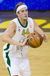 Matt Vincent Walsh (44) of Olimpija at Euroleague basketball match of Group C between KK Union Olimpija, Ljubljana and Maroussi B.C., Athens, on October 29, 2009, in Arena Tivoli, Ljubljana, Slovenia. Olimpija lost 75:81.  (Photo by Vid Ponikvar / Sportida)