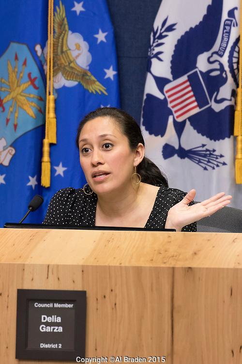 District 2 Council Member Delia Garza at City Council Meeting