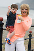 ***Repro Free*** Release 30/04/2014 Bray Co Wicklow: TV3s Sybil Mulcahy is All Set for Summer with ClonMedica and A New Home!<br />  <br /> Pictured TV3's Sybil Mulcahy with her 2 year old son Michael (2) as she gets set for a stressfree Summer with the ClonMedica Summer Range of products including Travel Pops, ITITCHeze and CaldeSun AND after finally buying her dream home in Killiney after over three years of searches and disappoints.<br />  <br />  All from ClonMedica, Travel Pops take the discomfort out of travelling for kids by settling the tummy during travel - helping to ensure a trouble free journey, whilst CaldeSun protects young skin from harmful sunrays with its 50 SPF 200ml Spray.  Itcheze helps sufferers from prickly heat by using a revolutionary new approach to cooling & soothing skin.<br />  <br /> For further information or to talk to Sybil Mulcahy, please contact Ann-Marie Sheehan, Aspire PR, Telephone : 087 2985569 / 01 8275181 or email annmarie@aspire-pr.com