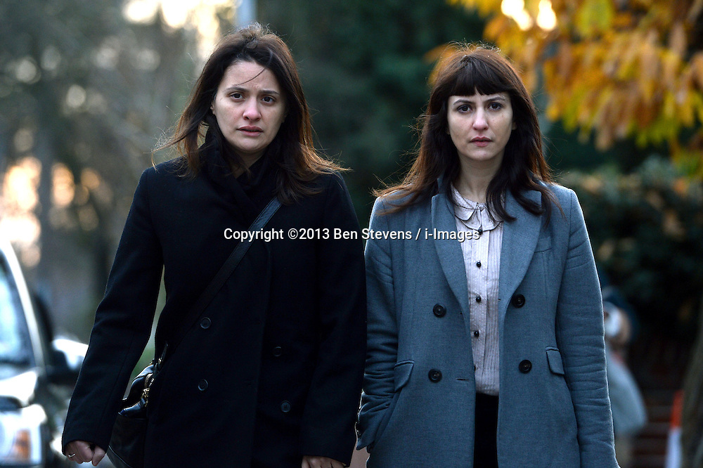 Pictured are Elisabetta (left) and Francesca (right) Grillo arriving at Isleworth Court.<br />