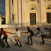 Inline Skating in Port-au-Prince, Haiti