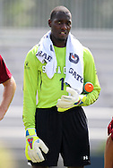 02 September 2012: Santa Clara's Larry Jackson. The North Carolina State University Wolfpack defeated the Santa Clara University Broncos 2-1 at Koskinen Stadium in Durham, North Carolina in a 2012 NCAA Division I Men's Soccer game.