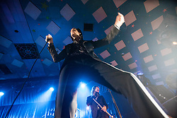 A wide angle shot from the photo pit of Nick Cave, of Nick Cave and the Bad Seeds, on stage tonight at The Barrowlands, Glasgow, Scotland.<br /> &copy;Michael Schofield.