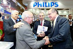 O governador de São Paulo, Geraldo Alckmin, durante abertura da Hospitalar 2012 - 19ª Feira Internacional de Produtos, Equipamentos, Serviços e Tecnologia para Hospitais, Laboratórios, Farmácias, Clínicas e Consultórios, que acontece nos dias 22 a 25 de maio, no Expo Center Norte. FOTO: Jefferson Bernardes/Preview.com