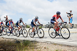 Olga Zabelinskaya (RUS) has Trixi Worrack (GER) and Lizzie Deignan (GBR) in her wheel at Amgen Tour of California Women's Race empowered with SRAM 2019 - Stage 2, a 74 km road race from Ontario to Mount Baldy, United States on May 17, 2019. Photo by Sean Robinson/velofocus.com