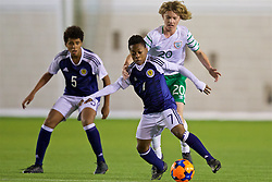 EDINBURGH, SCOTLAND - Friday, November 4, 2016: Scotland's Karamoko Dembele in action against Republic of Ireland's Luca Connell during the Under-16 2016 Victory Shield match at ORIAM. (Pic by David Rawcliffe/Propaganda)