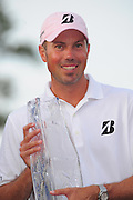 Matt Kuchar with the trophy after winning the Players Championship at the TPC Sawgrass on May 13, 2012 in Ponte Vedra, Fla. ..©2012 Scott A. Miller..