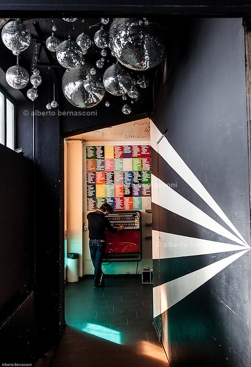 Switzerland, Zurich: Restaurant and night club Gerold Cuchi, near the famous Viaduktstrasse