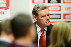 Bristol City Director Doug Harman looks on during the clubs Annual Supporters Meeting held in the AMC Communications Lounge - Photo mandatory by-line: Rogan Thomson/JMP - Tel: Mobile: 07966 386802 06/12/2012 - SPORT - FOOTBALL - Ashton Gate - Bristol - Club AGM.