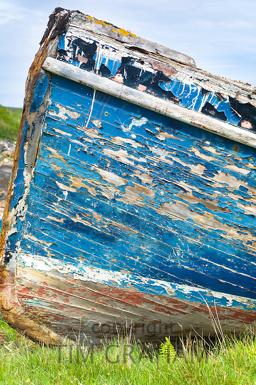 Fisherman's fishing boat at Old Dornie Harbour on the West Coast of Scotland