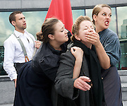 The Mother<br /> adapted by by Mark Ravenhill<br /> at The Scoop, More London, Great Britain <br /> press photocall<br /> 5th August 2011 <br /> <br /> Nicky Goldie (as Pelegea Vlassova)<br /> Benjamin O'Mahony<br /> Briony Price<br /> Natalie Harman <br /> <br /> <br /> Photograph by Elliott Franks