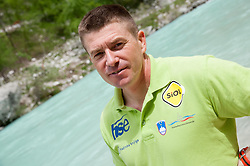 Simon Hocevar of Slovenia at final sprint race of European wildwater Canoeing Championships Soca 2013 on May 12, 2013 in Trnovo ob Soci, Soca river, Slovenia. (Photo By Vid Ponikvar / Sportida)