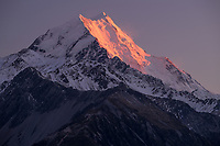 Mount Cook at sunrise, Aoraki National Park, South Island, New Zealand.
