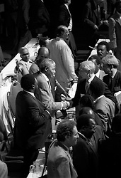 File Photo- Nelson Mandela Dead.  <br /> Dec 20 1991 -- Nelson Mandela at the CODESA talks between the African National Congress and the National Party apartheid government, Johannesburg, SOUTH AFRICA. Picture by Jonathan Mitchell / i-Images<br /> File Photo- Nelson Mandela Dead: Former South African President Has Died At 95. The former South African president had been suffering from a recurring lung infection, on Thursday December 05, 2013.<br /> Picture by Jonathan Mitchell / i-Images